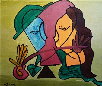 """In Love Oil on Canvas 20"""" x 23.5"""""""