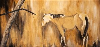 """Untitled #6 Oil on Wood 24"""" x 48"""""""