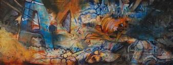 """Fry Acrylic & Oil on Wood 20.5"""" x 53"""""""
