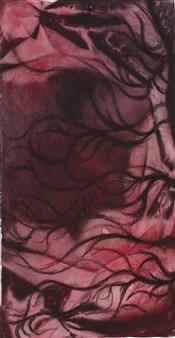 "Untitled 4 Acrylic on Fabric 41.3"" x 22"""
