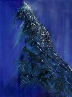 """Purple Evening in the Mountains Oil on Canvas 24"""" x 18"""""""