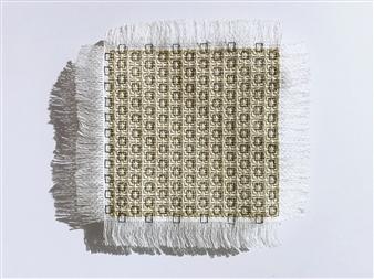 "TP#17 Mixed Media Textile 8"" x 8"""