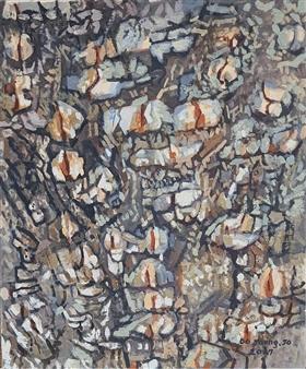 """Knar 15 Soil on Canvas 21"""" x 18"""""""