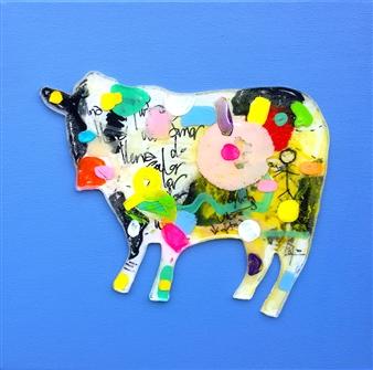 "Coloreteada Acrylic & Resin on Canvas 12"" x 12"""