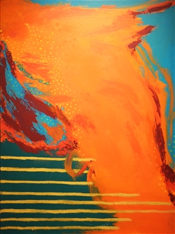 "Recapture IV Acrylic & Oil on Canvas 48"" x 36"""