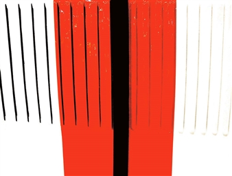 """# 001 Morgan White & Red - Air Series Inkjet Print on Hahnemühle Paper 45"""" x 59"""""""