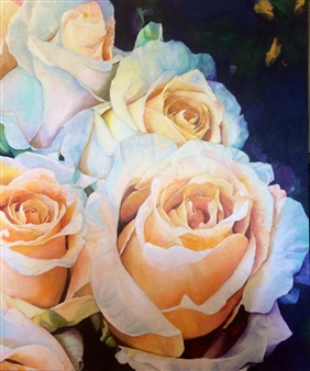"""Rose Garden Acrylic & Mixed Media on Canvas 72"""" x 60"""""""