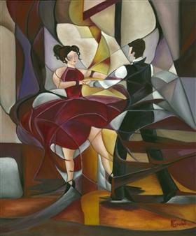 """The Ballroom Oil on Canvas 24"""" x 20"""""""
