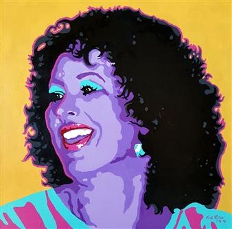 """Linda at Rosarito Acrylic on Canvas 24"""" x 24"""""""