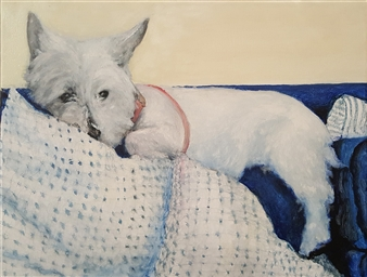 Anina's After-Breakfast Perch  (Westie)