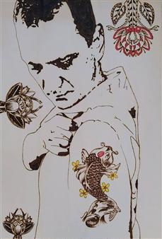 """Pyro - Tattoo Pyrography 30"""" x 20.5"""""""