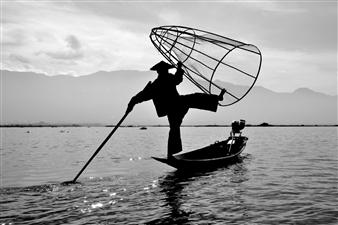 "Inle Lake Intha Fisherman! - DIPANKAR DAS - India Photograph 0"" x 0"""