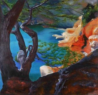 """Crique Oil on Canvas 39.5"""" x 39.5"""""""