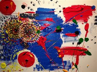 "Untitled 2 Acrylic on Canvas 18"" x 24"""