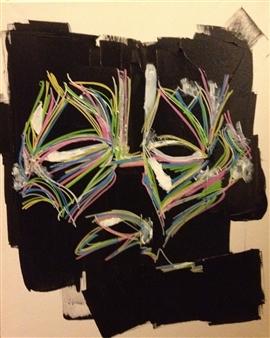 "Untitled 3 Acrylic & Pencil on Canvas 19.5"" x 15.5"""