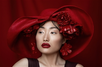 "Red Elegance - Eugene Li - Ukraine Photograph 0"" x 0"""