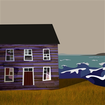 """Darby's Harbour Before the Storm Digital Print on Fine Art Paper 12"""" x 12"""""""