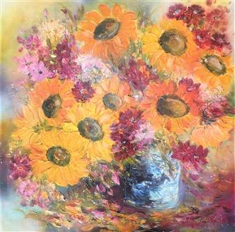 """My Suns Joyful Dancers Acrylic on Canvas 30.5"""" x 30.5"""""""