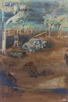 "Morning Dew Oil & Spray Paint on Canvas 36"" x 24"""