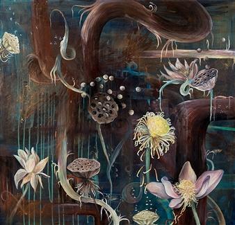 """Cosmic Harmony Acrylic & Mixed Media on Canvas 36"""" x 36"""""""