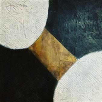 "Poles Acrylic on Canvas 31.5"" x 31.5"""