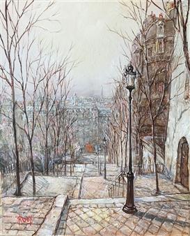 "Utrillo Street Oil on Canvas 18"" x 15"""