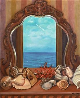 "Journey Through a Mirror Oil on Canvas 29"" x 23.5"""