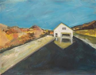 """House on River Acrylic on Canvas 15.5"""" x 19.5"""""""