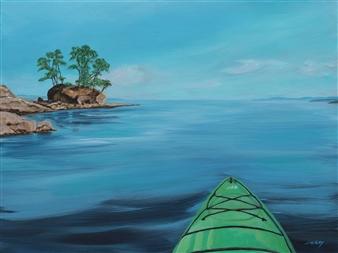 """Island Time Acrylic on Canvas 18"""" x 24"""""""