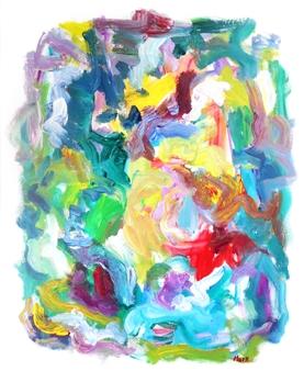 "Color Journey Acrylic on Canvas 30"" x 24"""