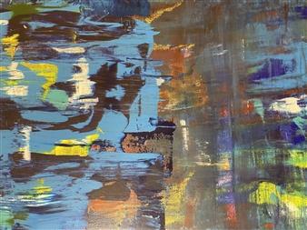 """Panic Acrylic on Canvas 19.5"""" x 59"""""""