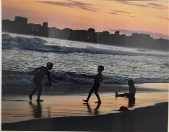 Children on Copacabana beach