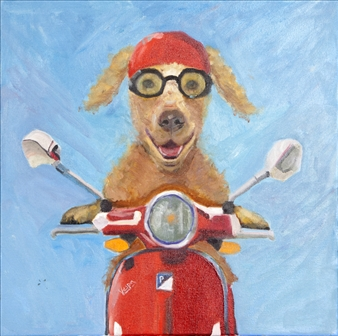 """Ciao! Oil on Canvas 20"""" x 20"""""""