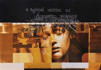 """A Typical Victim of Domestic Violence Mixed Media on Aluminum 29.5"""" x 39.5"""""""