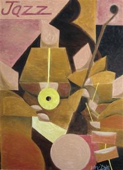 "Jazz Quartet Oil on Canvas 48"" x 36"""