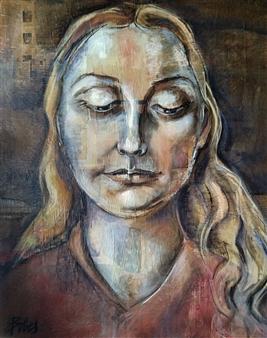"Dominus Tecum Oil on Canvas 39.5"" x 31.5"""