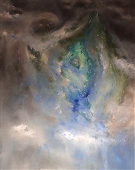 "Passage Acrylic & Oil on Canvas 60"" x 48"""