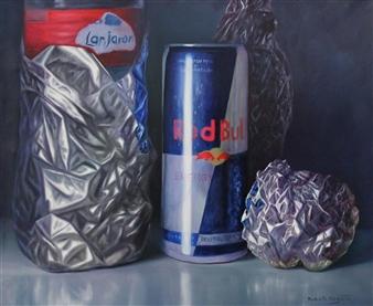 "Aluminum Oil on Canvas 21.5"" x 25.5"""