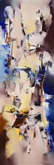 """La Sabiduría de las Emociones Oil on Canvas 47.5"""" x 16"""""""