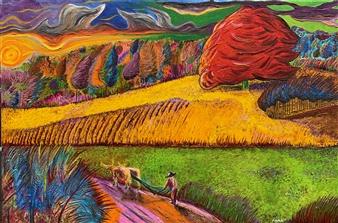 """Declino Del Di Oil on Canvas 23.5"""" x 35.5"""""""