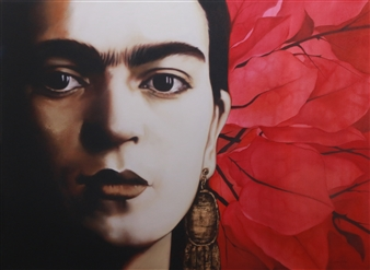 """Frida Oil on Canvas 43"""" x 59"""" <span style='color:red;'>Sold</span>"""