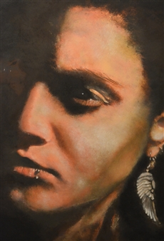 "Self Portrait Oil on Canvas 19.5"" x 15.5"""