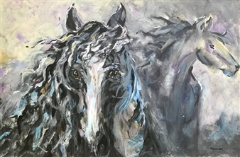 "Breath of the Wind Acrylic on Canvas 24"" x 36"""