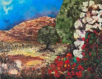 "East #5 Embellished Giclèe Print on Canvas 16"" x 20"""