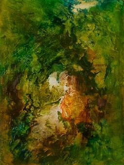 """Enchanted Garden Mixed Media on Canvas 40"""" x 30"""""""