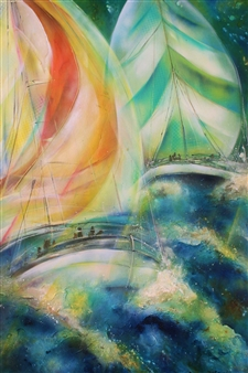 Marine Duet in Emerald Elation