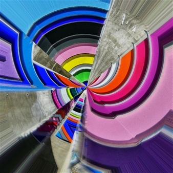 """Wynwood Architectural Colors Archival Pigment Print 36"""" x 36"""""""
