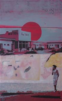 "Motel 500 Acrylic on Canvas 51"" x 31.5"""