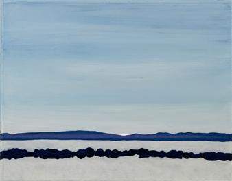 "Croton Landing Ice on the Hudson Acrylic on Canvas 11"" x 14"""