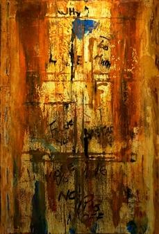 "Subway Acrylic on Canvas 60"" x 40"""